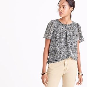 J. Crew Metallic Chiffon Top